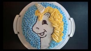 Elsa unicorn birthday cake, made on request