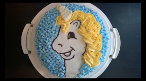 Elsa unicorn birthday cake, made on request
